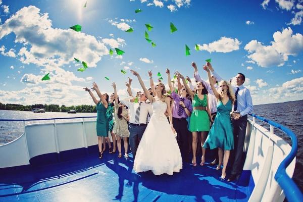 Проведение свадьбы на теплоходе