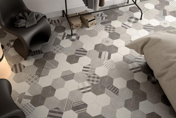 Пэчворк и соты в дизайне современной итальянской плитки Equipe